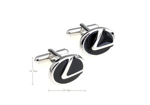 Novelty Cufflinks - Lexus Logo - The Little Link