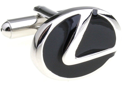 Black Car Cufflinks - Lexus Logo