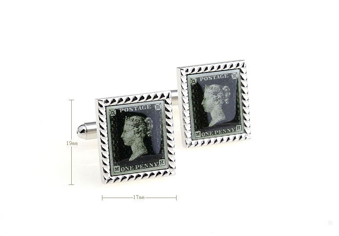 Novelty Cufflinks - Vintage Postal Stamp - The Little Link