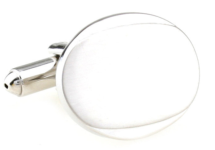 Silver Oval Classic Cufflinks - Prudence
