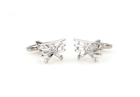 Novelty Cufflinks - Fighter Jet - The Little Link