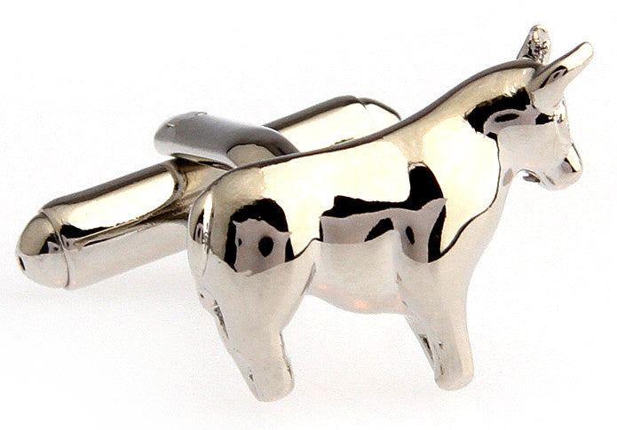 Novelty Cufflinks - Bulls and Bears (silver) - The Little Link