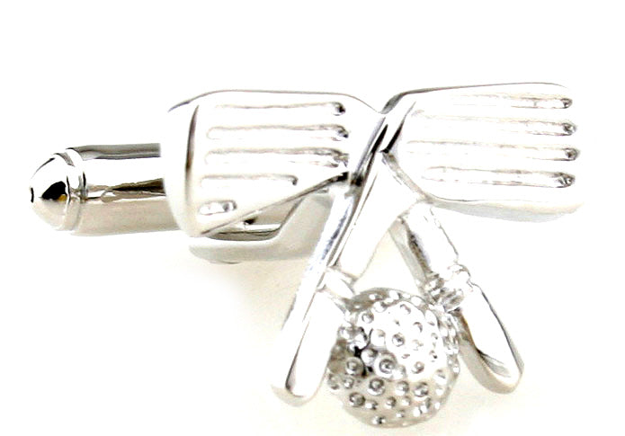 Silver Sports Golf Cufflinks - Hole in One