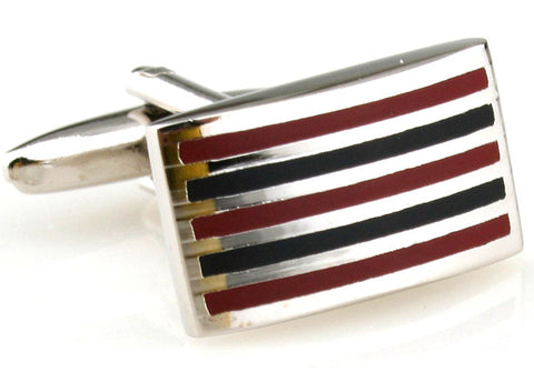 Blue and Red Stripe Cufflinks - Officer