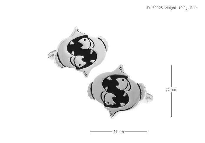 Novelty Cufflinks - Pisces - The Little Link