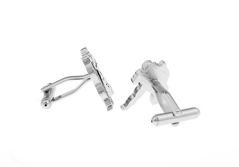 Novelty Cufflinks - Silver Horoscope Cufflinks - Aquarius- The Little Link