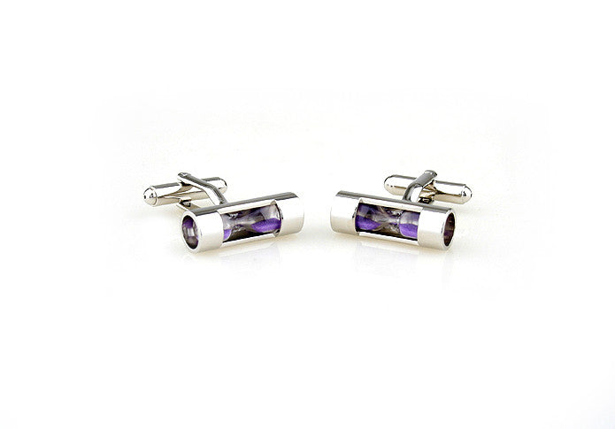 Novelty Cufflinks - Hourglass (purple) - The Little Link