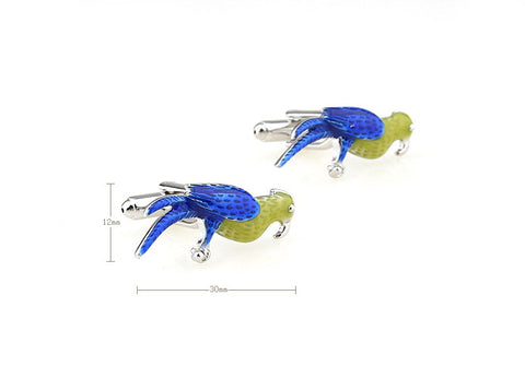 Novelty Cufflinks - Paranoid Parrot - The Little Link
