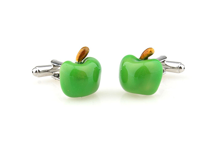 Novelty Cufflinks - Green Apple - The Little Link