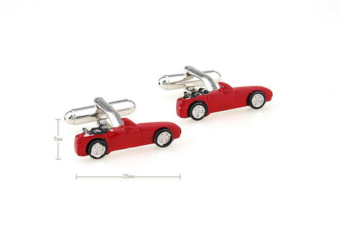 Red Cars Cufflinks - Red Ride