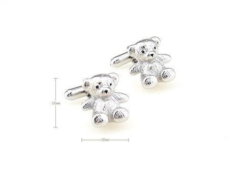 Silver Animal Cufflinks - Ted