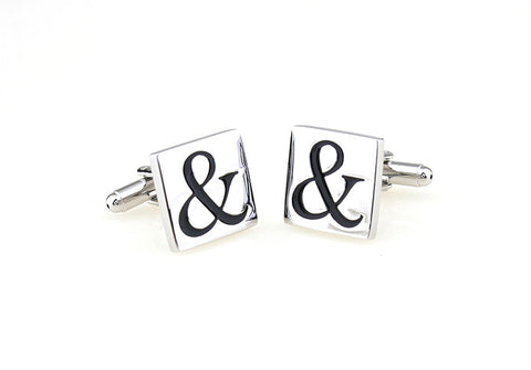 Novelty Cufflinks - Silver Initials Cufflinks - And Then - The Little Link