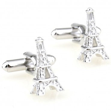 Silver Novelty Cufflinks - Eiffel Tower