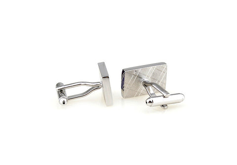 Purple Stripe Cufflinks - Lavender Floral