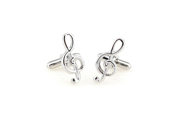 Novelty Cufflinks - Treble Clef - The Little Link