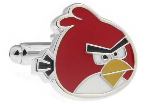 Novelty Cufflinks - Red Cartoon Cufflinks - Angry Birds (Red)- The Little Link