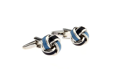 Classic Cufflinks - Black and Blue Classic Knot Cufflinks - Boy Scouts - The Little Link