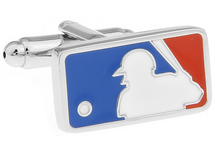 Blue and Red Baseball Cufflinks - MLB Logo