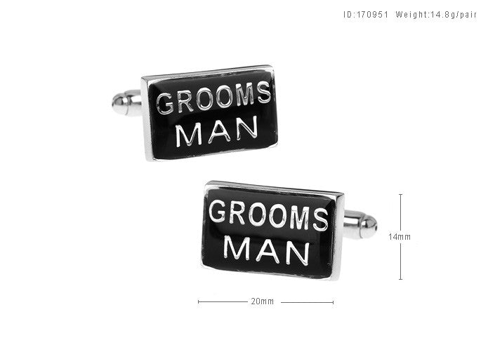 Novelty Cufflinks - Groom's Man - The Little Link