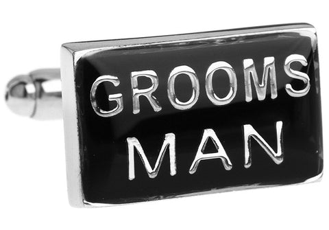 Black Wedding Cufflinks - Groom's Man