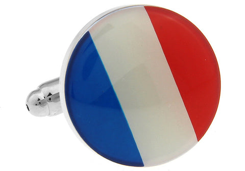 Novelty Cufflinks - French Flag - The Little Link