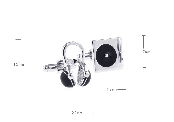 Novelty Cufflinks - DJ - The Little Link