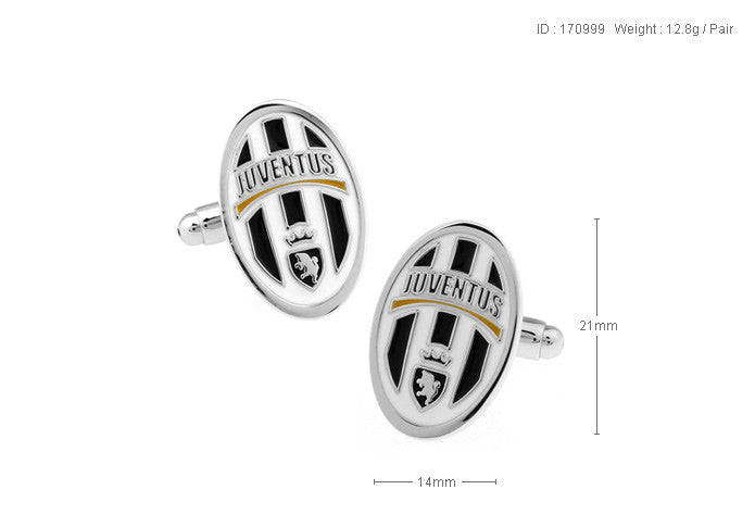 Novelty Cufflinks - Juventus Logo - The Little Link