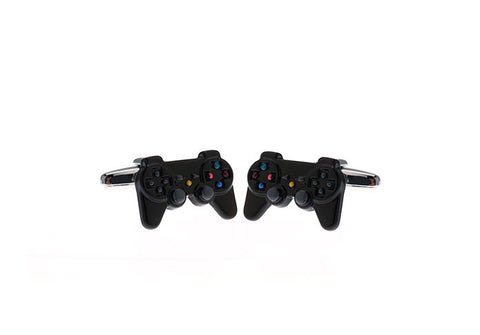 Black Novelty Cufflinks - Game Console