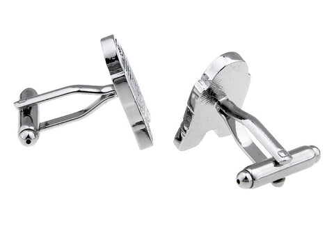 Silver Geek Cufflinks - Droid