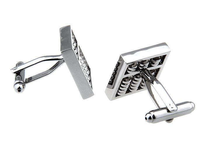 Novelty Cufflinks - Silver Novelty Math Cufflinks - Abacus - The Little Link