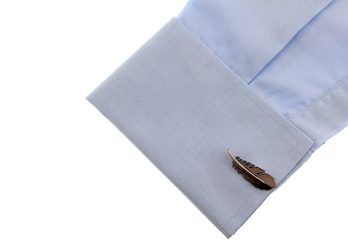 Novelty Cufflinks - Black Feather - The Little Link