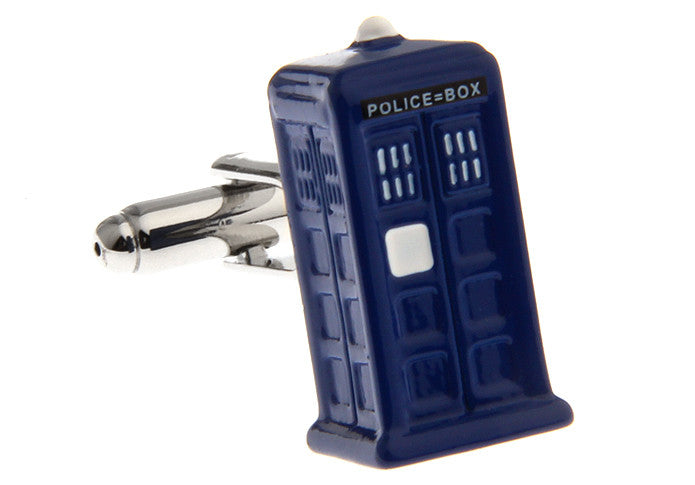 Blue Hipster Cufflinks - Dr Who