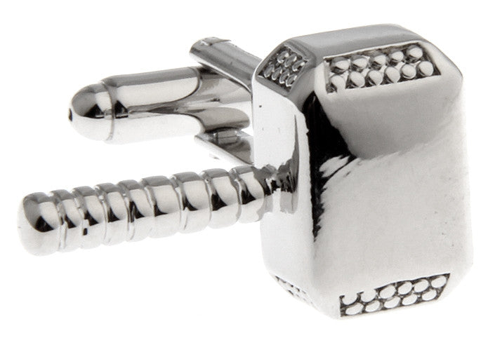 Silver Superhero Cufflinks - Thor of Asguard