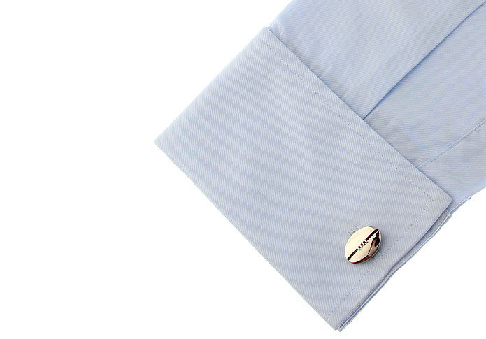 Novelty Cufflinks - Rugby Ball - The Little Link