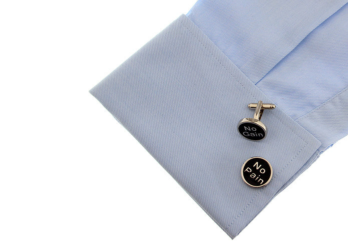 Novelty Cufflinks - No Pain No Gain - The Little Link