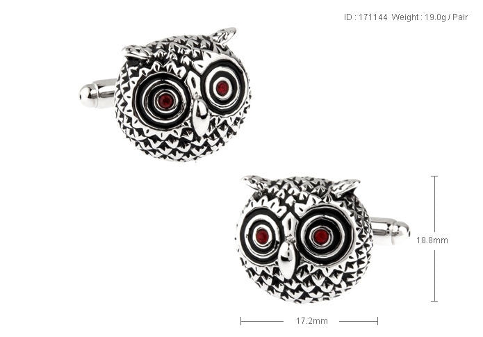 Novelty Cufflinks - Rustic Owl - The Little Link