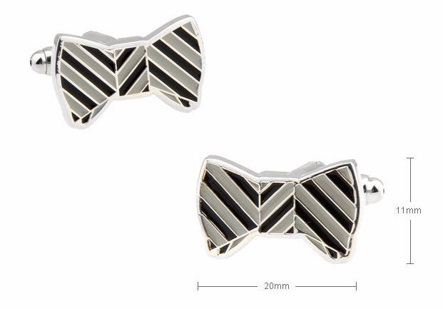 Classic Cufflinks - Bow Tie Corey Cufflinks - The Little Link