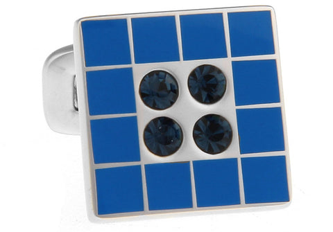 Blue and Black Square Classic Cufflinks - Wally