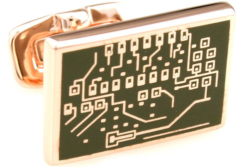 Novelty Cufflinks - Motherboard - The Little Link