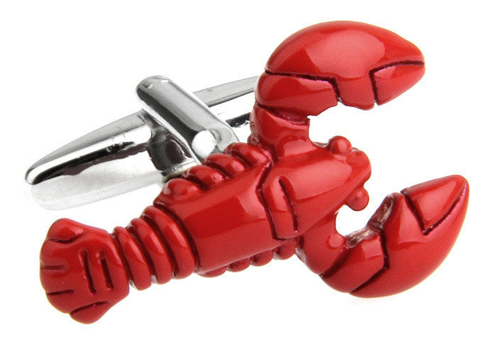 Red Animal Cufflinks - Lobster