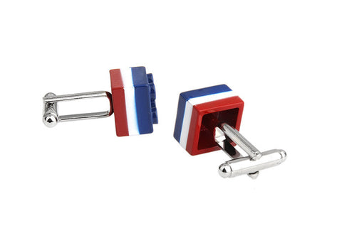 Blue and Red Novelty Cufflinks - French Lego