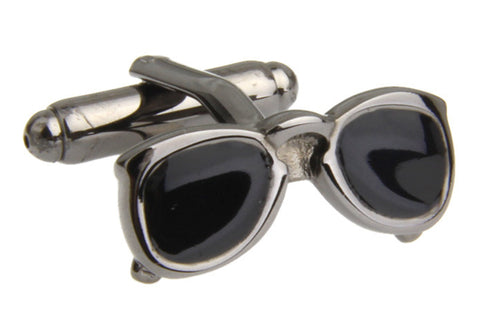 Grey Novelty Cufflinks - Sunnies