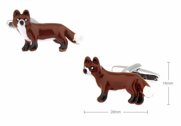Novelty Cufflinks - What Does the Fox Say - The Little Link