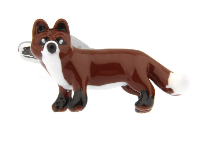 Brown Animal Cufflinks Fox - What Does the Fox Say