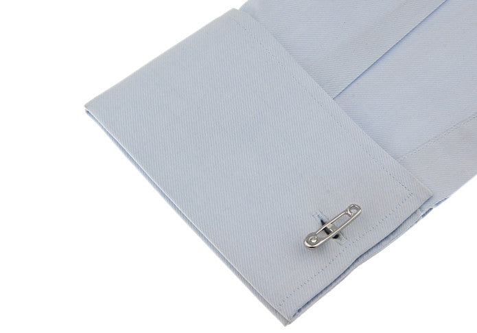 Novelty Cufflinks - Jeweled Safety Pin - The Little Link