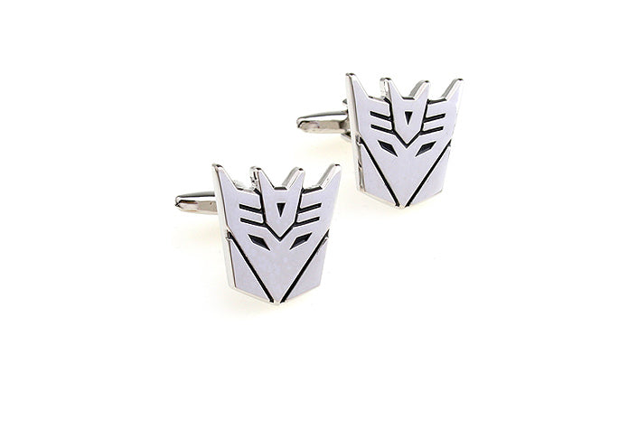 Novelty Cufflinks - Transformers Decepticon (Silver) - The Little Link