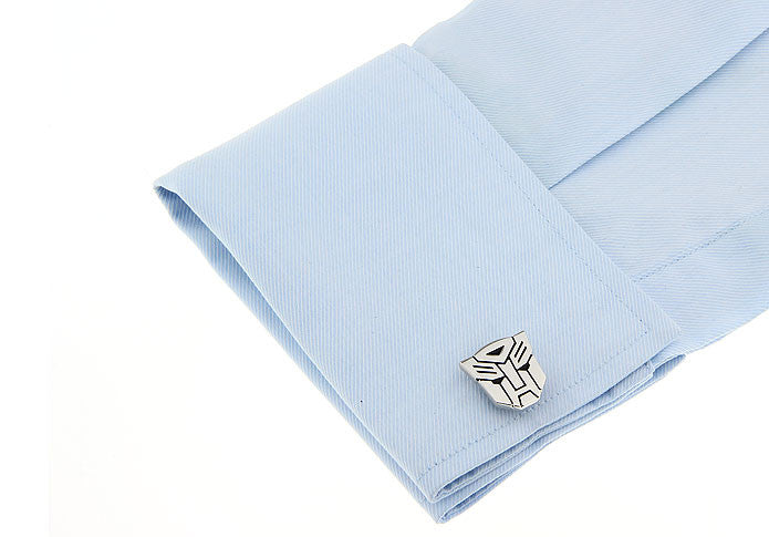 Novelty Cufflinks - Transformers Autobot (Silver) - The Little Link