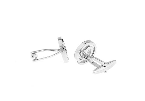 Novelty Cufflinks - Silver Initials Cufflinks - At Sign - The Little Link
