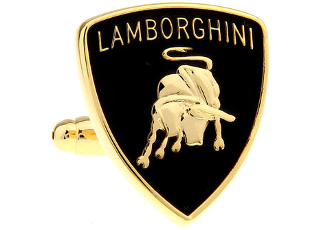 Novelty Cufflinks - Lamborghini Logo (Gold) - The Little Link