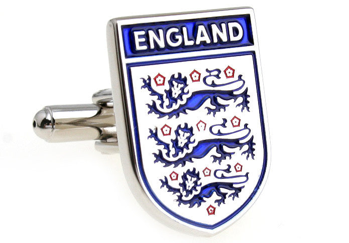 Blue and White Soccer Logo Cufflinks - England Football Team